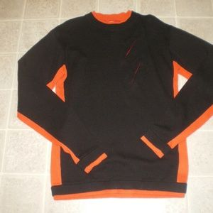 Shanghai Tang Black/Orange Crew Neck Sweater Sz M